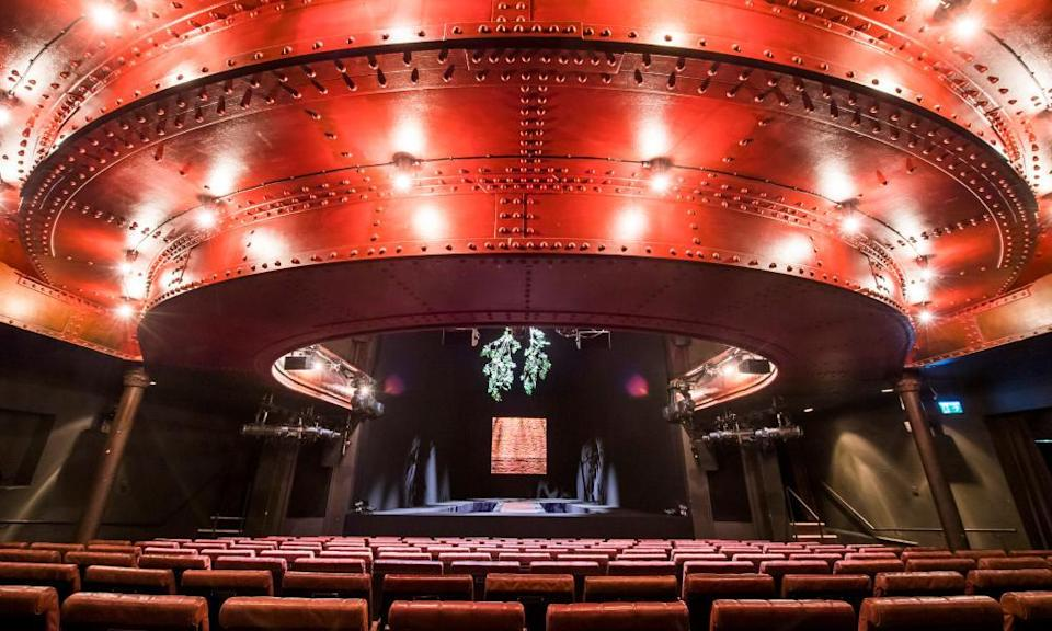 The auditorium of the Royal Court Theatre, London.
