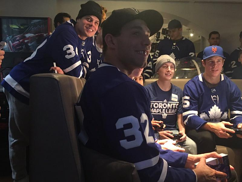 on sale fae98 da803 Toronto Maple Leafs make annual visit to Sick Kids hospital