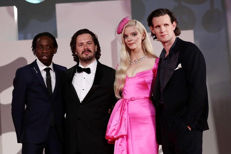 Michael Ajao, Edgar Wright, Anya Taylor-Joy and Matt Smith at the Last Night In Soho premiere (Getty Images)
