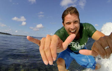 Nick says his passion is surfing which lead him to create his billion-dollar empire. Photo: GoPro