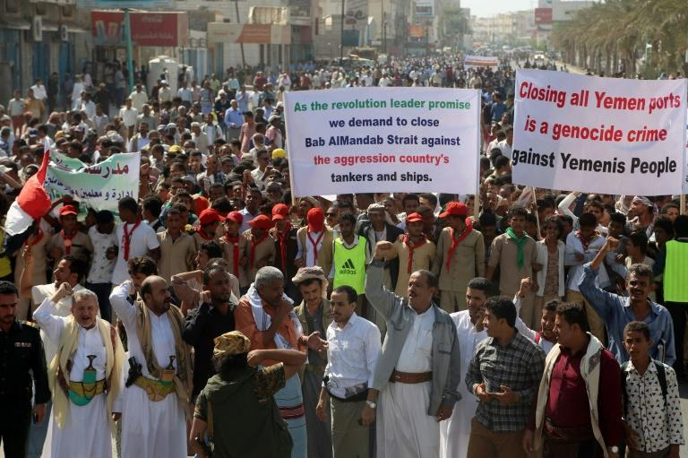 Yemenis demonstrated in the coastal city of Hodeidah on November 19 demanding the blockade by the Saudi-led coalition be lifted and the UN health agency has warned 8.5 million Tetanus-Diphtheria vaccine doses are urgently needed
