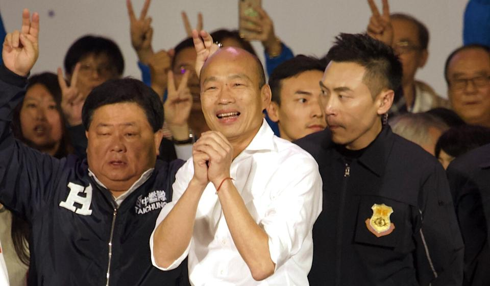 Han Kuo-yu was defeated by Tsai Ing-wen in the presidential election in January and has now been ousted as mayor of Kaohsiung. Photo: AP