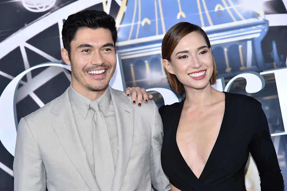Henry Golding and wife Liv Lo attend