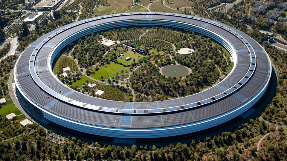 The Apple Park campus in Cupertino, Calif., where real estate values are sky-high.