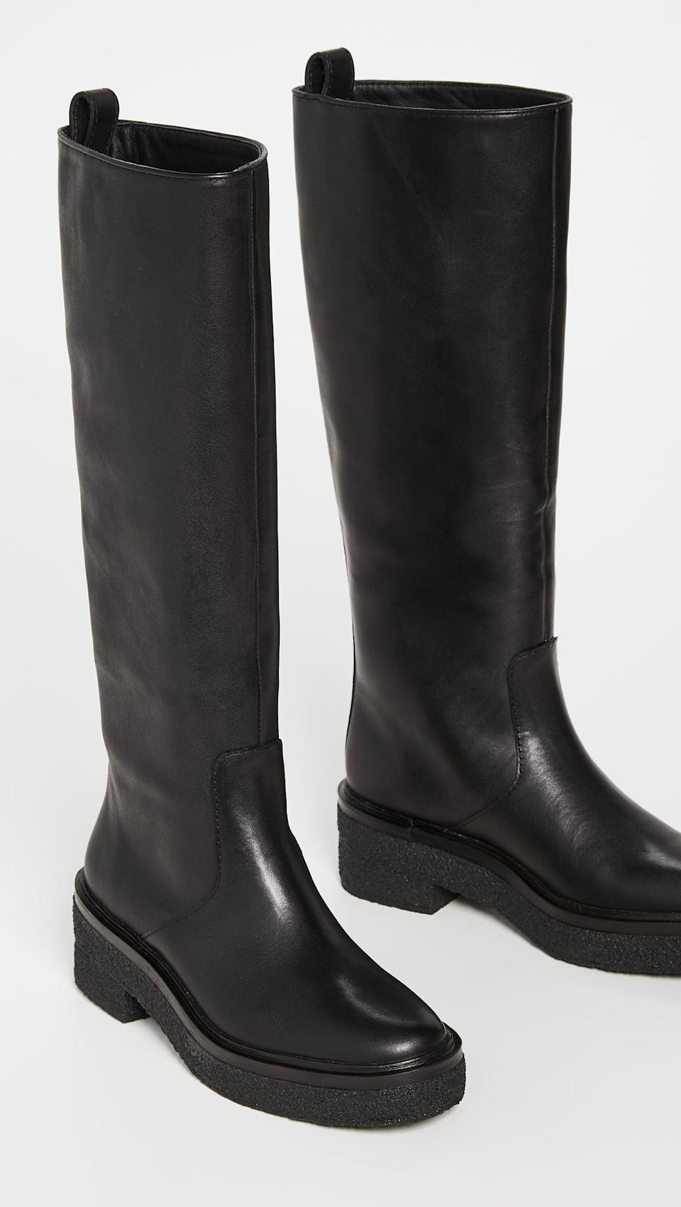 <p>These <span>Loeffler Randall Tall Shaft Boots with Crepe Sole</span> ($595) are elegant and timeless. Take care of them properly, and they'll never let you down.</p>