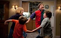 """Sarah Baker, Kya Haywood, Zach Galifianakis and Grant Goodman in Warner Bros. Pictures' """"The Campaign"""" - 2012"""