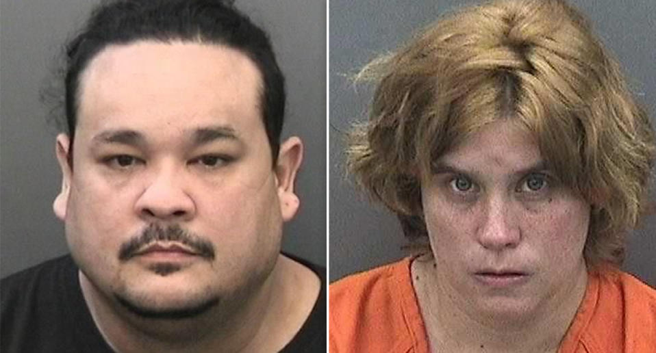 John Hernandez and Natasha Dabbs were arrested after they admitted to locking a young boy in a closet for hours at a time. Source: Associated Press