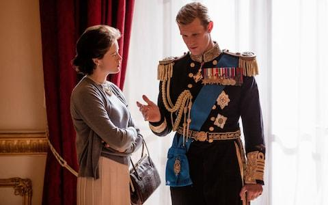 Claire Foy and Matt Smith in The Crown - Credit: Robert Viglasky