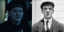 """<p>Frederick Fleet, played by Scott Anderson, was the lookout who spotted the iceberg that <em>Titanic </em>hit. As depicted in the movie, he really did shout, """"Iceberg, right ahead!"""" when he saw it. Fleet survived the sinking and served in World War I and World War II. He committed suicide in 1965. </p>"""