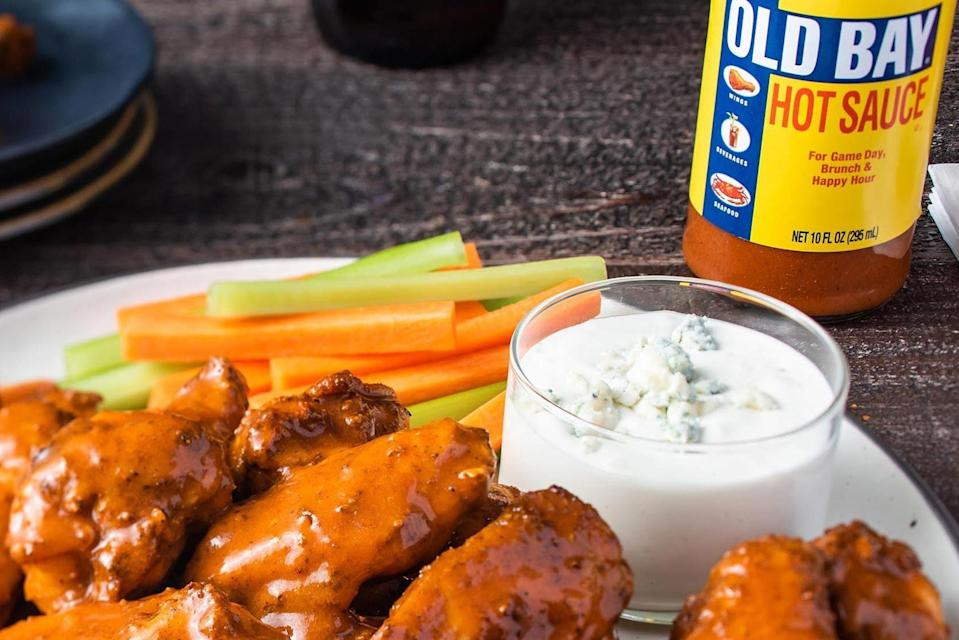 Buffalo wings made with Old Bay's hot sauce.