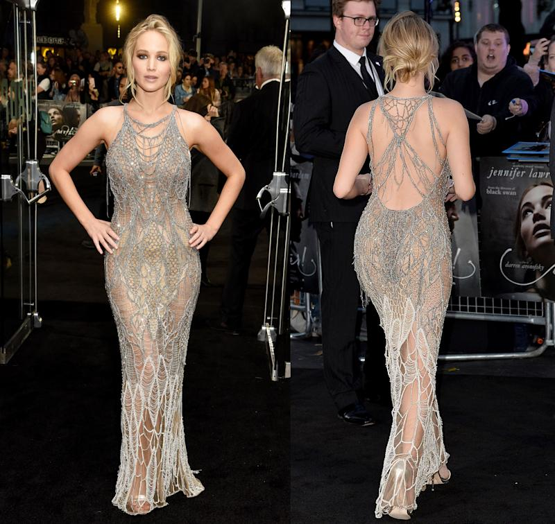 Jennifer Lawrence in Versace for Mother premiere