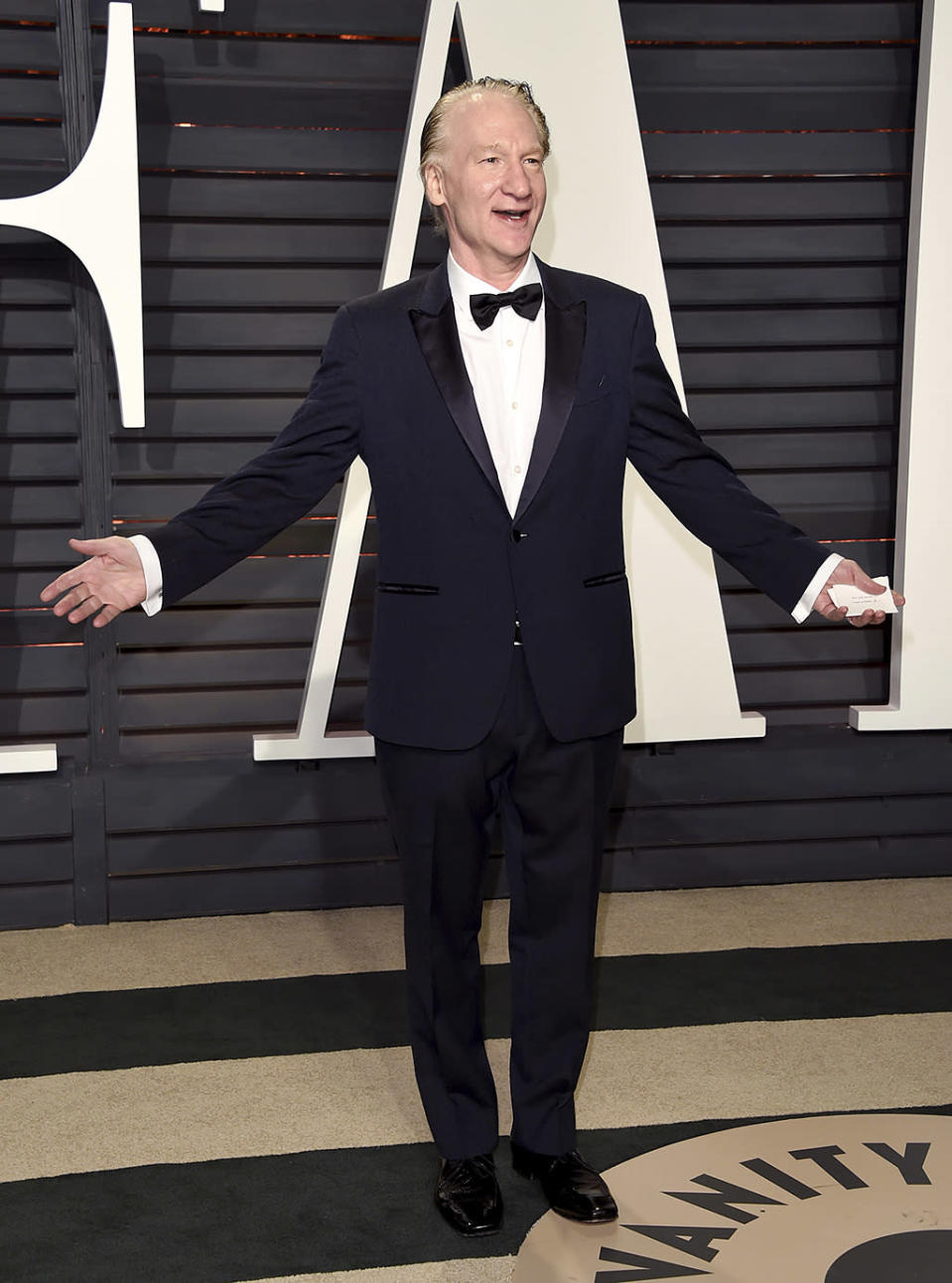 <p>Bill Maher arrives at the Vanity Fair Oscar Party on Sunday, Feb. 26, 2017, in Beverly Hills, Calif. (Photo by Evan Agostini/Invision/AP) </p>