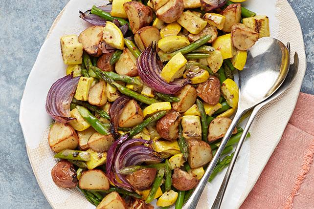 Brussels sprouts, green beans, carrots—all roasting veggies are welcome. (Photo: My Food and Family)