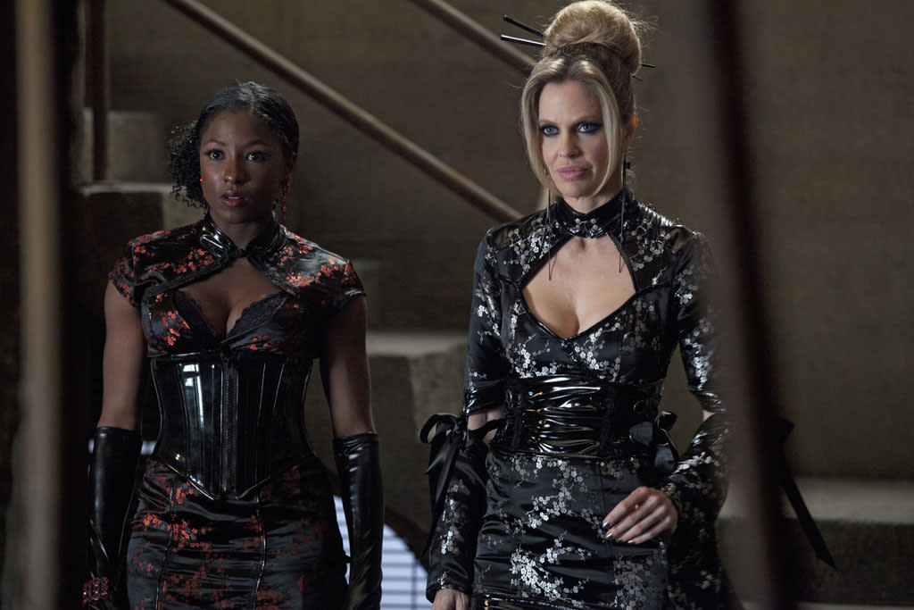"Rutina Wesley and Kristin Bauer van Straten in the ""True Blood"" episode, ""Somebody That I Used to Know."""
