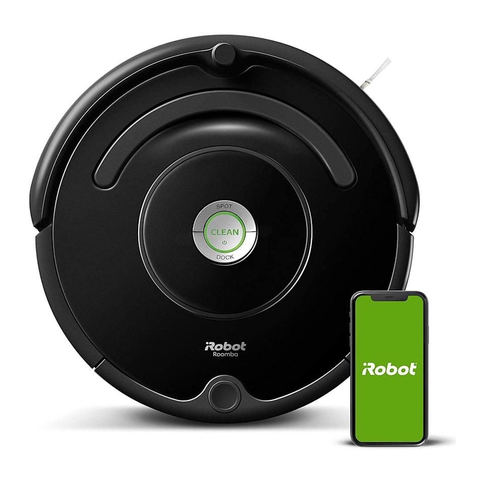 """Not too big, not too small. This cordless vacuum is one of the most visually pleasing vacuums on Amazon—and one of the most practical things you can gift to parents or grandparents (or yourself). $300, Amazon. <a href=""""https://www.amazon.com/iRobot-Roomba-675-Connectivity-Carpets/dp/B07DL4QY5V/"""" rel=""""nofollow noopener"""" target=""""_blank"""" data-ylk=""""slk:Get it now!"""" class=""""link rapid-noclick-resp"""">Get it now!</a>"""