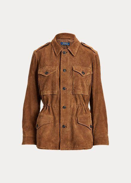 "<p><strong>Ralph Lauren</strong></p><p>ralphlauren.com</p><p><strong>$1298.00</strong></p><p><a href=""https://click.linksynergy.com/deeplink?id=6Km1lFswsiY&mid=37812&murl=https%3A%2F%2Fwww.ralphlauren.com%2Fwomen-clothing-jackets%2Fsuede-military-jacket%2F509715.html%3Fdwvar509715_colorname%3DNatural%2520Brown%23lang%3Den_US%26q%3Dmilitary%252Bjacket%26start%3D1"" rel=""nofollow noopener"" target=""_blank"" data-ylk=""slk:Shop Now"" class=""link rapid-noclick-resp"">Shop Now</a></p><p>This Western-inspired jacket makes for the perfect accessory for outdoor dining. The cinched waist and button details have just what we need to complete a look.</p>"