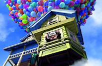 <p>Is it possible to even think about <em>Up</em> without sobbing softly to oneself? The film's prologue, which takes us through the entire relationship of the protagonist Carl and his now-deceased wife Ellie, doesn't just grab you — it shakes you until the tears come streaming. Follow that up with enchanting imagery of Carl's floating house and hilarious lines from sidekicks Russell and Dug, and you can't help but be transported up, up, and away.</p>