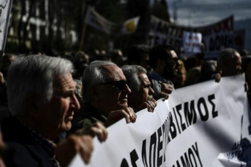 Islanders who protested in Athens on February 13 demanded the immediate removal of most of the asylum-seekers and accused the EU of abandoning them