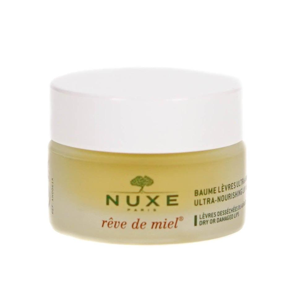 """<h2>Nuxe Rêve de Miel Lip Balm</h2><br>""""My skin gets so dry in the winter. Especially my lips! This lip balm is worth every penny – no other chapstick, balm, or oil has come close. I apply it to my lips before bed and in the morning, and I even rub some in-between my hands when they're dry."""" – <a href=""""https://www.instagram.com/gentle__onion/"""" rel=""""nofollow noopener"""" target=""""_blank"""" data-ylk=""""slk:Mary Frances Knapp"""" class=""""link rapid-noclick-resp"""">Mary Frances Knapp</a>, Lifestyle & Wellness Writer<br><br><em>Shop <strong><a href=""""https://www.amazon.com/NUXE-R%C3%AAve-Miel-Ultra-Nourishing-Balm/dp/B004MZMEGC"""" rel=""""nofollow noopener"""" target=""""_blank"""" data-ylk=""""slk:Amazon"""" class=""""link rapid-noclick-resp"""">Amazon</a></strong></em><br><br><strong>Nuxe</strong> Rêve de Miel Lip Balm, $, available at <a href=""""https://www.amazon.com/NUXE-R%C3%AAve-Miel-Ultra-Nourishing-Balm/dp/B004MZMEGC"""" rel=""""nofollow noopener"""" target=""""_blank"""" data-ylk=""""slk:Amazon"""" class=""""link rapid-noclick-resp"""">Amazon</a>"""