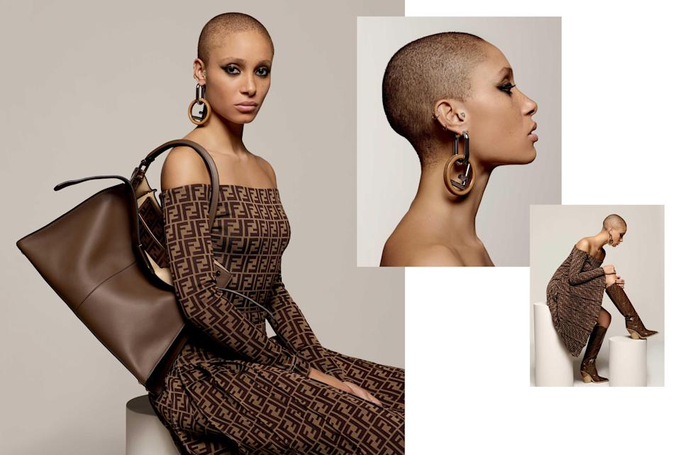 <p><strong>Model</strong>: Adwoa Aboah <br><strong>Photographer:</strong> Karl Lagerfeld<br>(Photo: Courtesy of Fendi) </p>