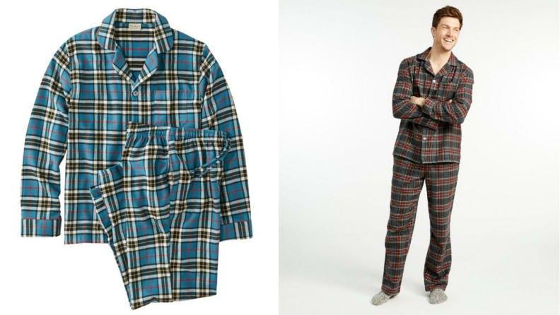 These flannel pajamas are ideal for the winter.
