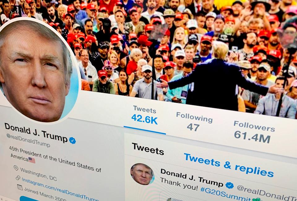 Imagen de archivo del perfil de Donald Trump en Twitter. (Photo: ASSOCIATED PRESS)