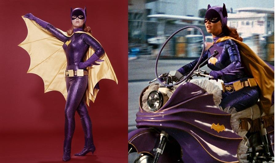 The iconic costume worn by Yvonne Craig on the Batman TV series of the sixties.
