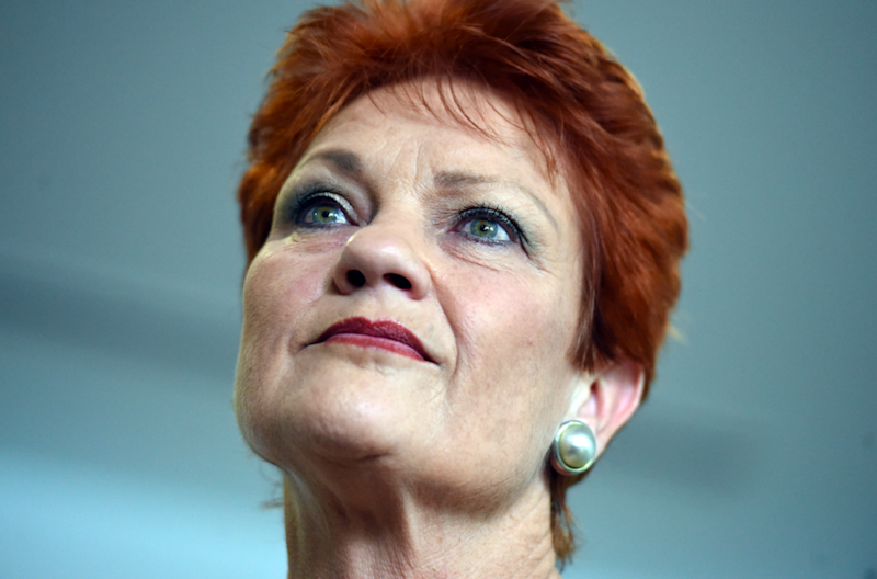 Almost half of Queenslanders feel Pauline Hanson would make a good Prime Minister. Photo: AAP