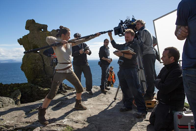 Filming on Skellig Michael island for 'Star Wars: The Last Jedi'