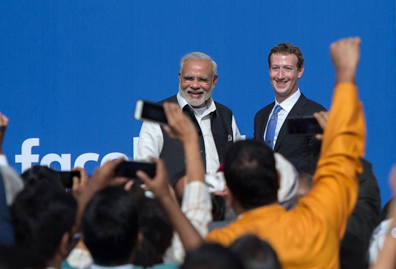 US-INDIA-IT-MODI-FACEBOOK