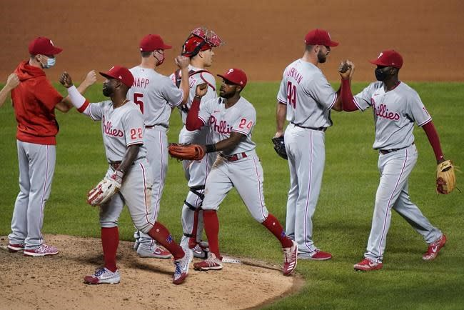 Arrieta pitches Phillies past Mets 5-3 for 5th straight win