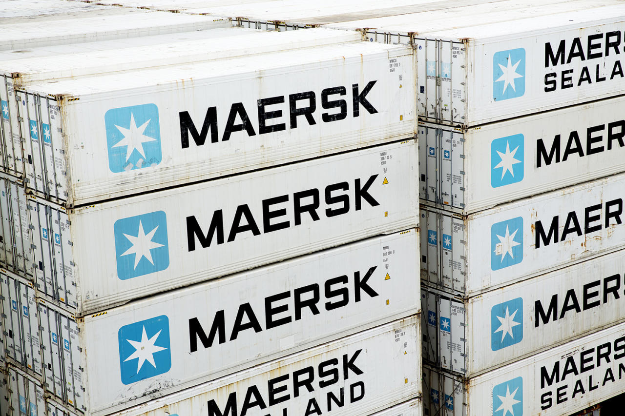 FILE - In this Jan. 31, 2014, file photo of A.P. Moller-Maersk containers on a ship in the Panama Canal. Hackers Tuesday June 27, 2017 caused widespread disruption across Europe, hitting Ukraine especially hard. Russia's Rosneft energy company also reported falling victim to hacking, as did shipping company A.P. Moller-Maersk, which said every branch of its business was affected. (Thomas Borberg/Polfoto via AP,file)