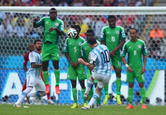 Lionel Messi and Argentina will see Nigeria in the group stage for the second consecutive World Cup. (Getty)