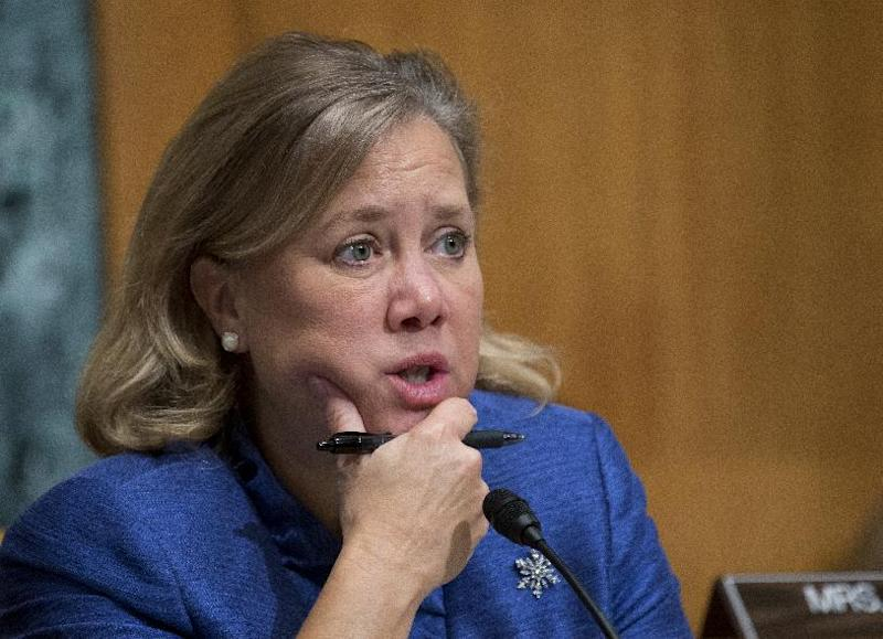 FILE - In this Dec. 5, 2012 file photo, Sen. Mary Landrieu, D-La., speaks during a hearing on Capitol Hill in Washington. Hit with a multi-million-dollar barrage of televised attacks, Democrats in tough re-election races want credit for trying to fix the problematic parts of Obamacare at the same time they claim bragging rights for its popular provisions and allege Republicans would reverse the law's crackdown on insurance company abuses. (AP Photo/Manuel Balce Ceneta, File)