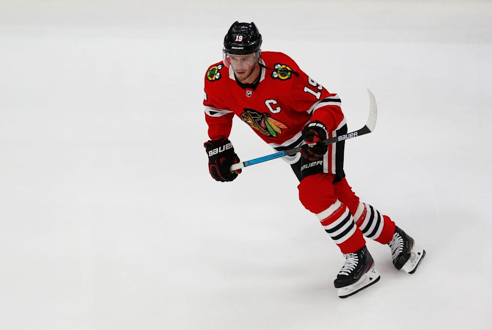 Toews has won three Stanley Cups with the Blackhawks.
