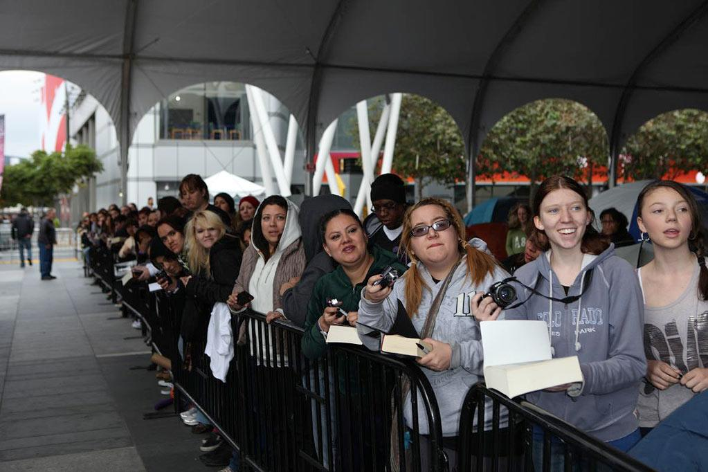 "Stephenie Meyer visits her devoted Twilight fans in ""Tent City"" at LA Live in Los Angeles."