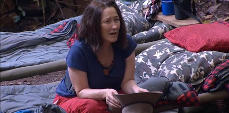 Fiona lashed out at David Oldfield on I'm A Celeb. Source: Ten