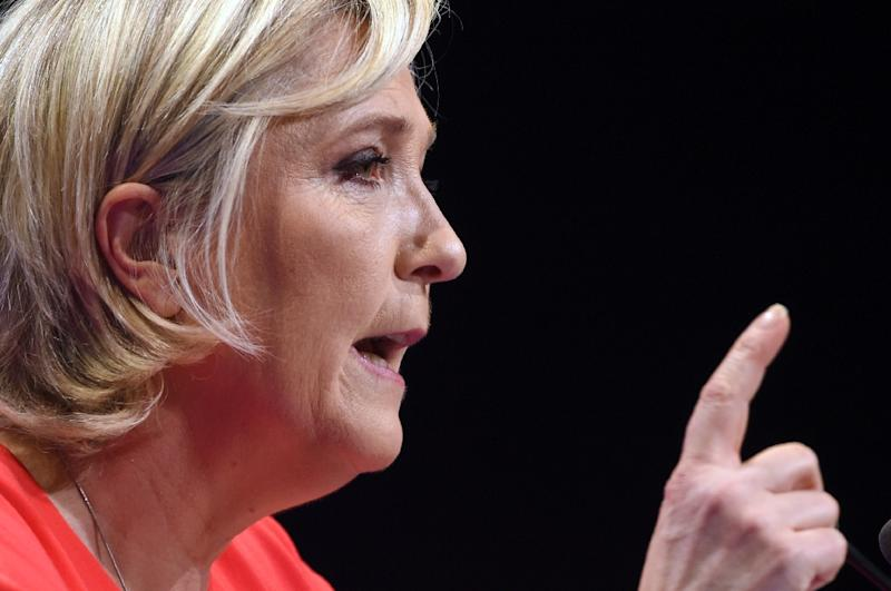 Marine Le Pen's French far-right National Front party found itself again fighting a furore about the Nazi gas chambers (AFP Photo/GUILLAUME SOUVANT)