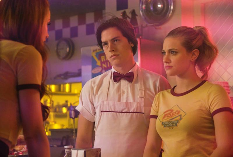 "Lili Reinhart and Cole Sprouse in ""Riverdale."" (The CW)"