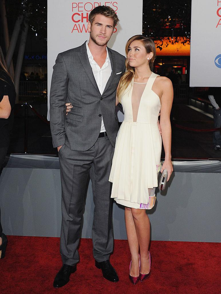 MIley Cyrus was simple and elegant in David Koma in 2012. (Photo: Getty Images)