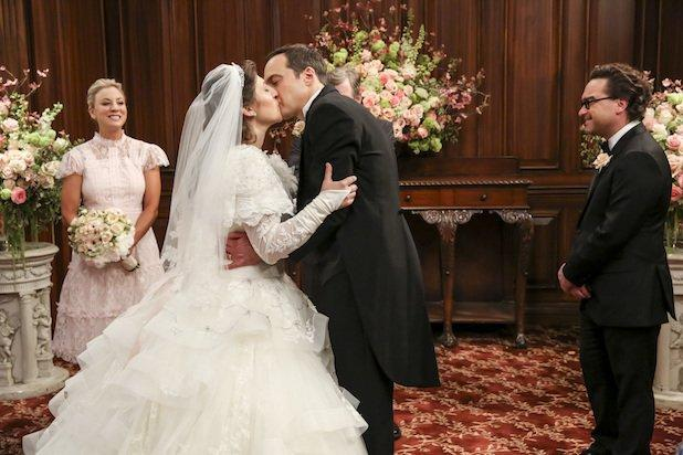 Ratings Sheldon And Amy S Bang Theory Wedding Toasts To Double Digit Growth