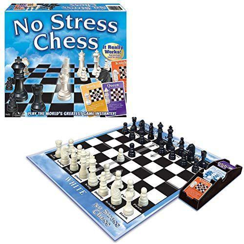 "<p><strong>Winning Moves Games</strong></p><p>amazon.com</p><p><strong>$13.49</strong></p><p><a href=""https://www.amazon.com/dp/B0007Q1IO4?tag=syn-yahoo-20&ascsubtag=%5Bartid%7C10055.g.35140205%5Bsrc%7Cyahoo-us"" rel=""nofollow noopener"" target=""_blank"" data-ylk=""slk:Shop Now"" class=""link rapid-noclick-resp"">Shop Now</a></p><p>If you're just starting out, No Stress Chess teaches the fundamentals of the game by using cards that explain how each of the pieces move. When the Good Housekeeping Little Lab tested new toys and games last year, this one was a hit. ""My daughter played this repetitively,"" one tester said. ""This game also made it easy for me to learn how to play — and she was able to teach me."" <em>Ages 7+</em></p><p><strong>RELATED:</strong> <a href=""https://www.goodhousekeeping.com/childrens-products/board-games/g32475624/best-board-games-for-kids/"" rel=""nofollow noopener"" target=""_blank"" data-ylk=""slk:The 20 Best Board Games for Kids, According to Parents and Experts"" class=""link rapid-noclick-resp"">The 20 Best Board Games for Kids, According to Parents and Experts</a><br></p>"