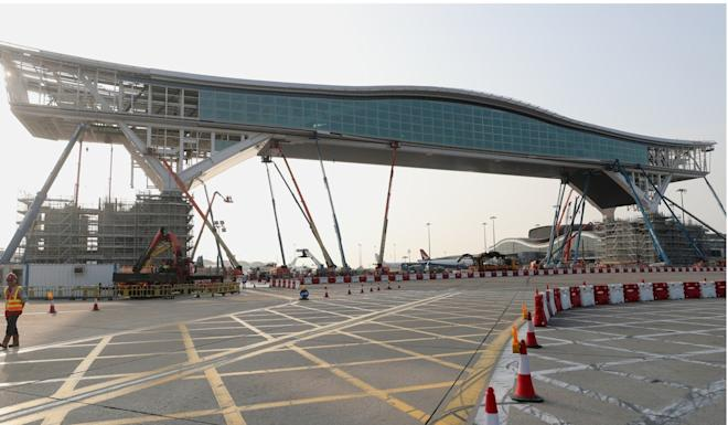 The structure is 200 metres long and will have a glass panel floor. Photo: Sam Tsang