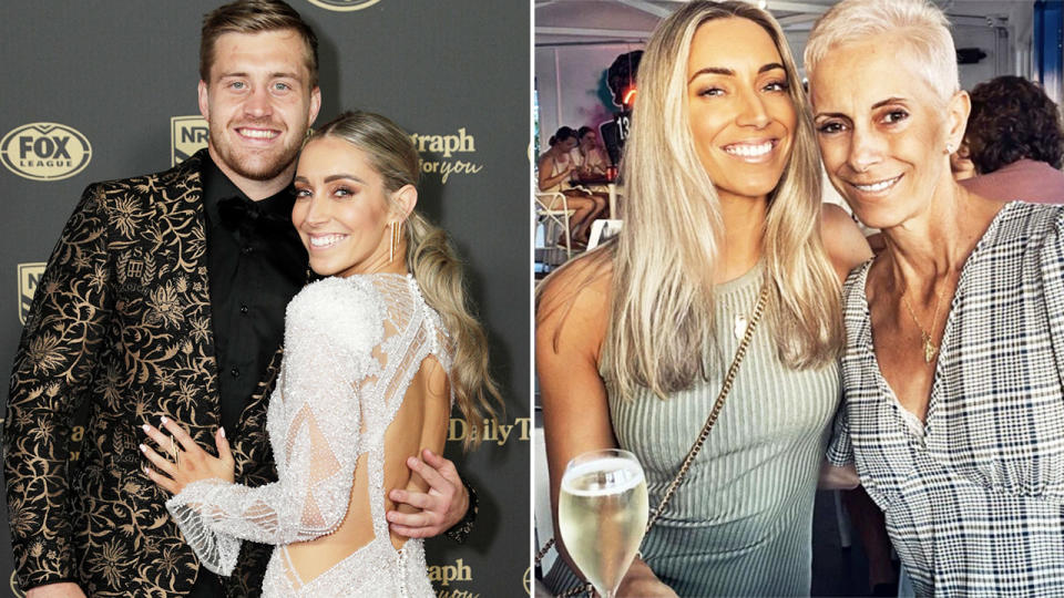 Cameron Munster and Bianca McMahon, pictured here at the 2020 Dally M Awards.