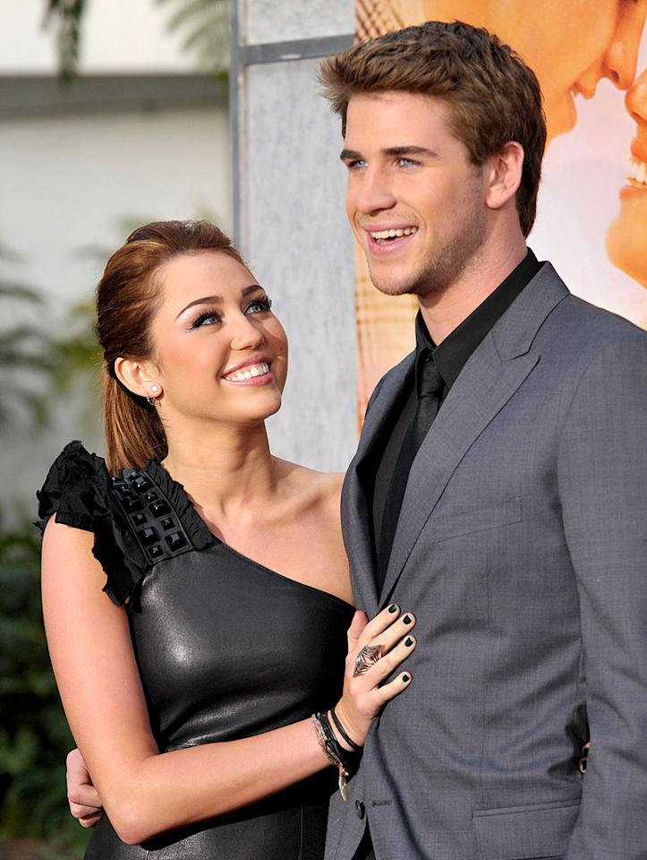 "By 2010, Miley was ready to move on from her breakthrough role. After announcing that the fourth season of ""Hannah Montana"" would be her last in January, ""The Climb"" singer went on to star in the Nicholas Sparks tearjerker, ""The Last Song."" She was escorted to the film's L.A. premiere in March by her co-star and real-life love interest, adorable Aussie actor Liam Hemsworth! John Shearer/<a href=""http://www.wireimage.com"" target=""new"">WireImage.com</a> - March 25, 2010"