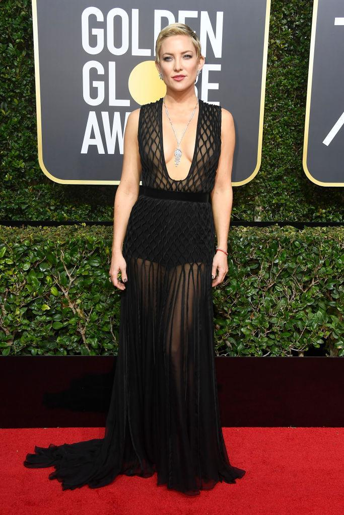 <p>Kate Hudson, a presenter, attends the 75th Annual Golden Globe Awards at the Beverly Hilton Hotel in Beverly Hills, Calif., on Jan. 7, 2018. (Photo: Steve Granitz/WireImage) </p>