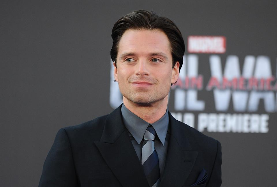 HOLLYWOOD, CALIFORNIA - APRIL 12:  Actor Sebastian Stan attends the premiere of