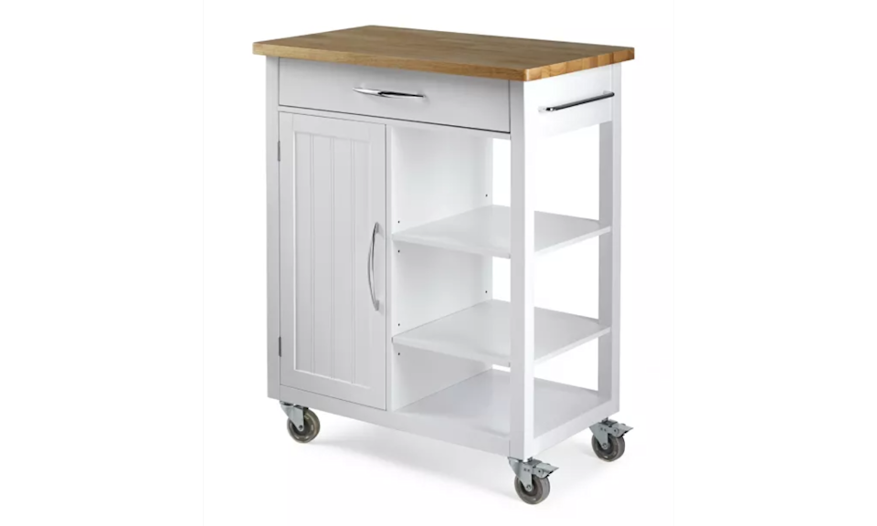 For Living Kitchen Cart with Wooden Top via Canadian Tire