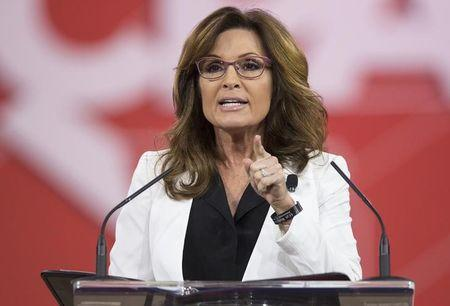 Sarah Palin speaks at the 42nd annual Conservative Political Action Conference in Maryland