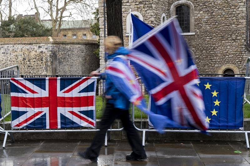 Britain is due to leave the EU on March 29 (AFP Photo/Niklas HALLE'N)